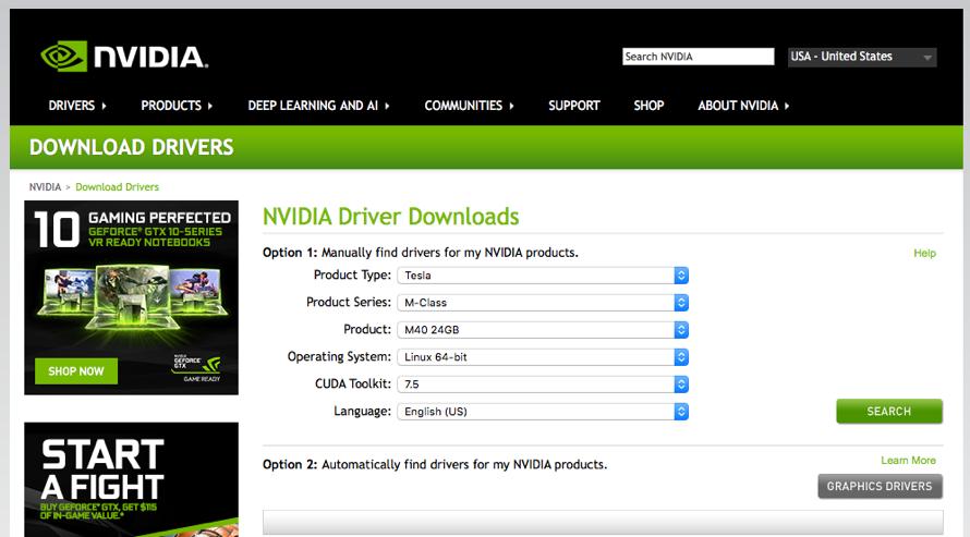 Installing CUDA 7 5 for Tesla M40 on Ubuntu 14 04 5 LTS